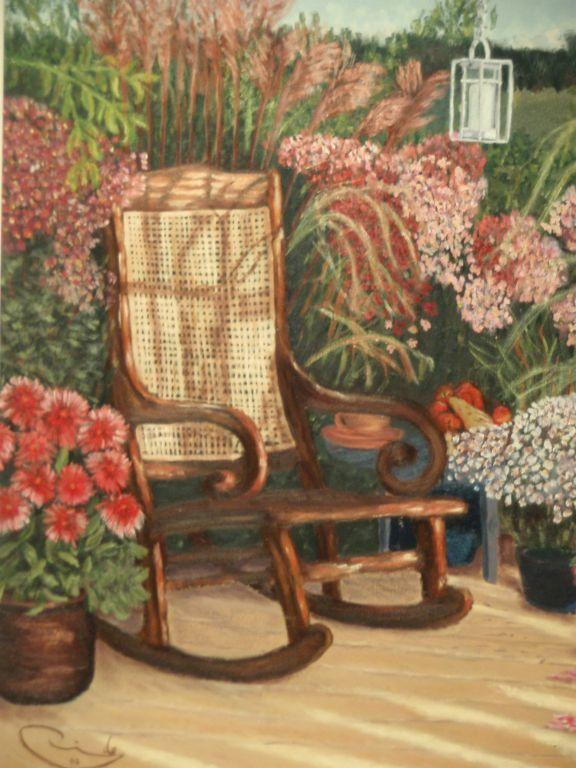 Mecedora en el jardin ricardo alvarez - Mecedoras para jardin ...