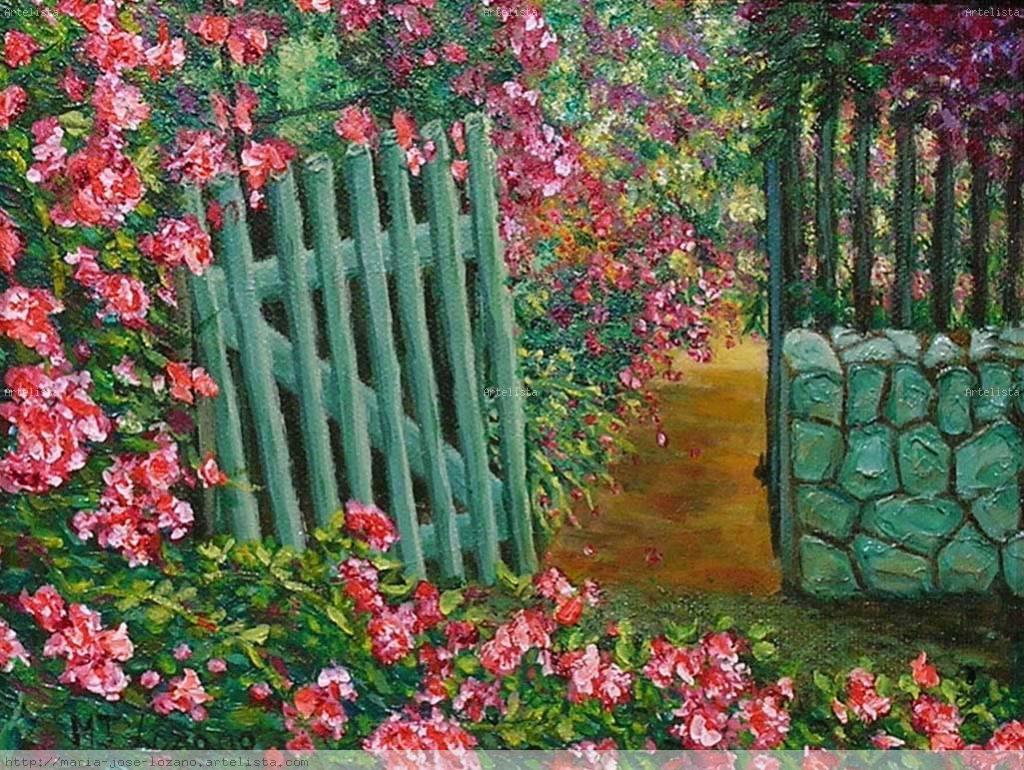 Puerta del jard n mar a jos lozano bonanad - Puertas de jardin ...