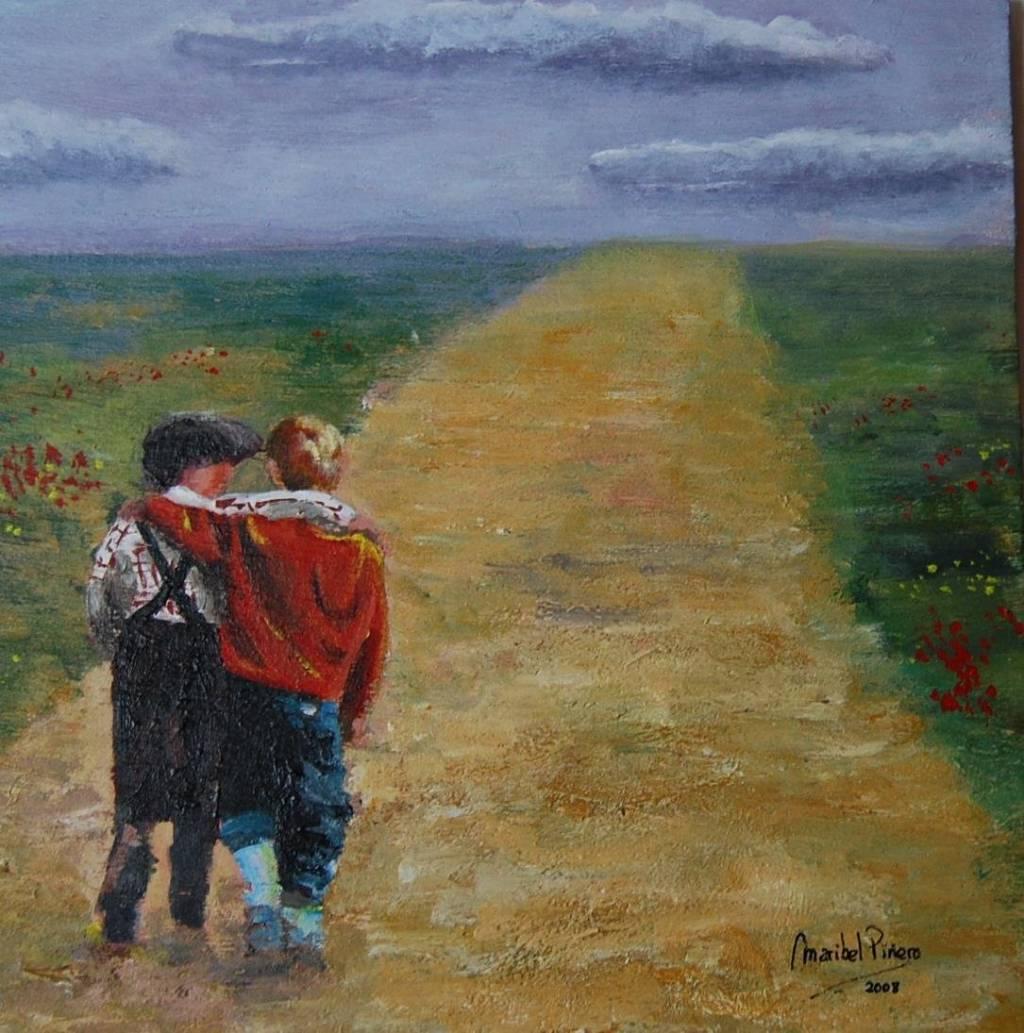 Resultado de imagen para pinturas sobre la amistad