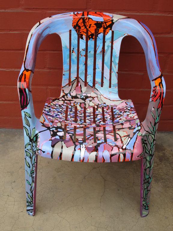 Paisaje en silla jose luis blanco romero for Sillas de acrilico