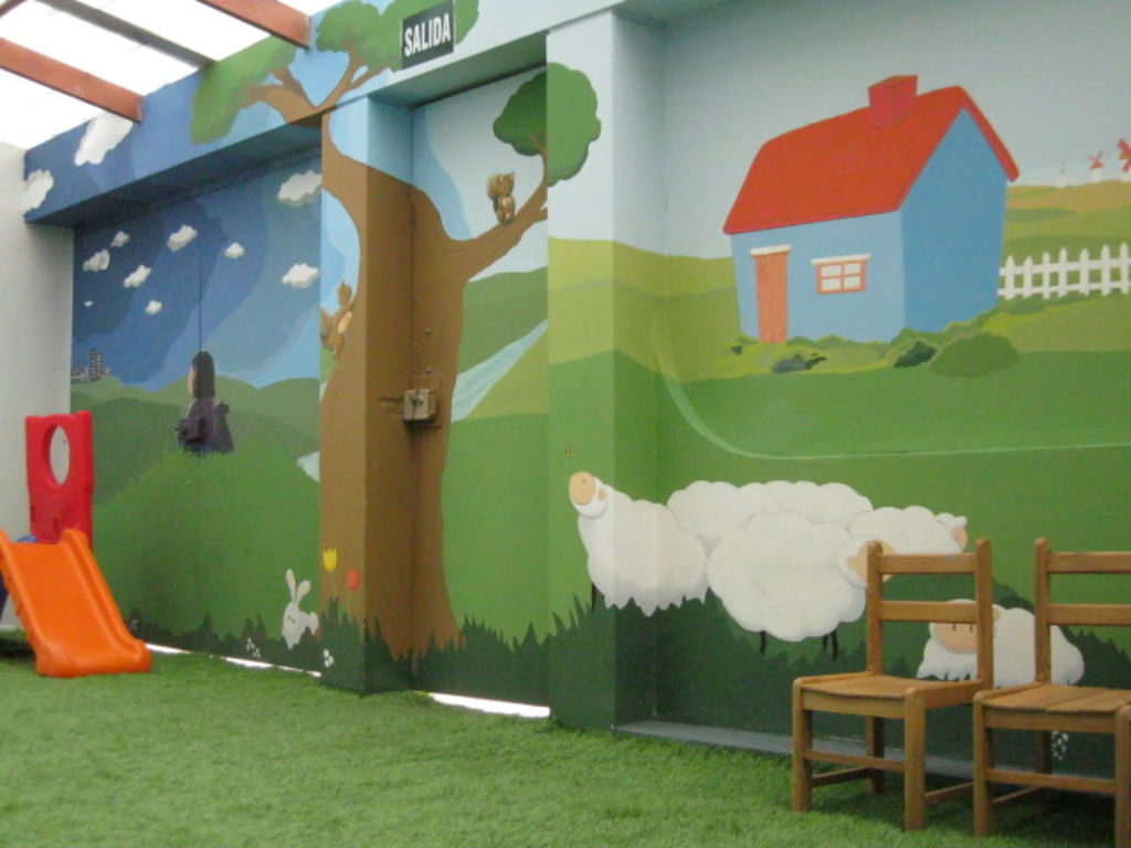 Murales infantiles oleo mate murales infantiles mundo for Murales infantiles