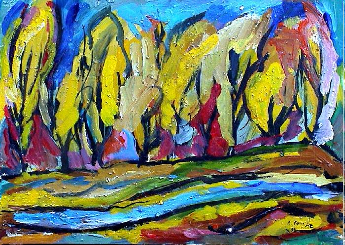 Famous Fauvist Artists �rboles fauves oil canvas