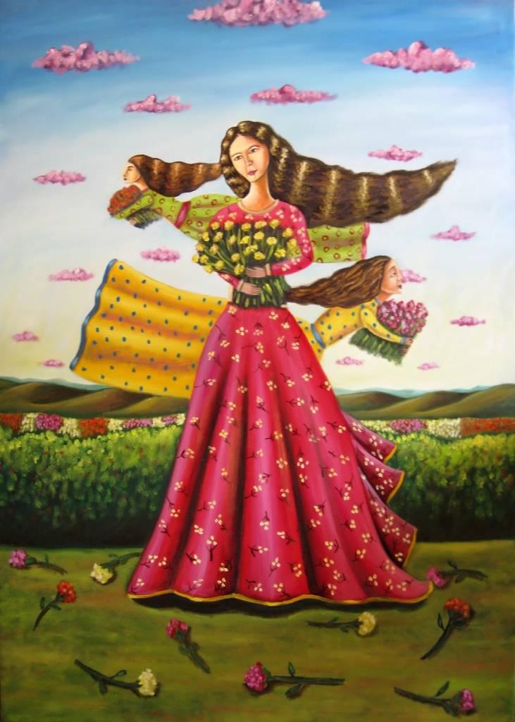 Mujeres Con Flores German Rubio Sierra Artelistacom