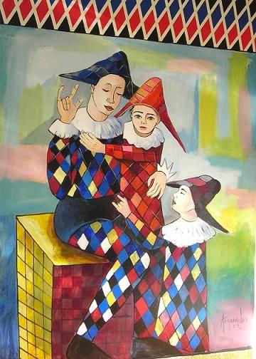 Obra de arte del pintor dominicano - Arquimedes Mejia