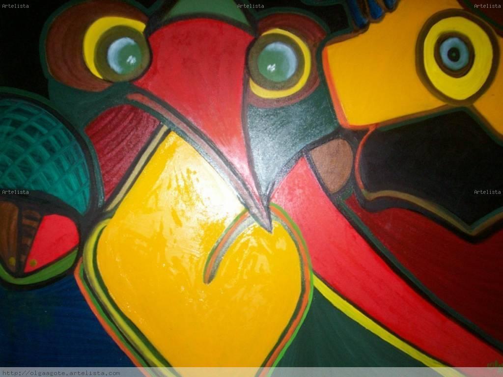 cuadros abstractos con figuras geometricas imagui