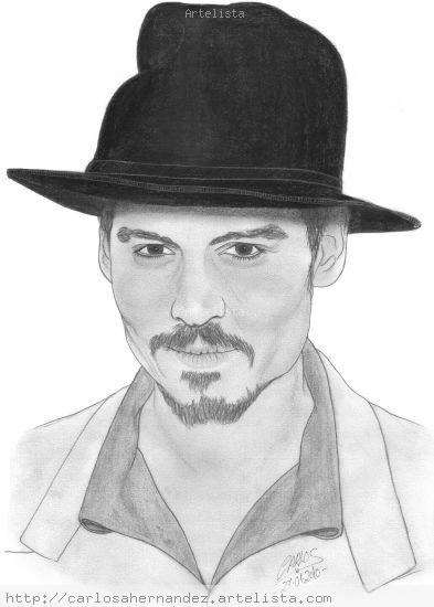 Johnny Depp Graphite Paper Portrait