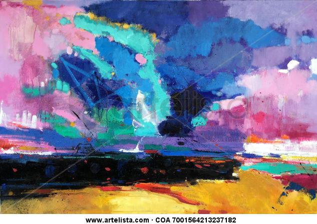 abstract 127 Lienzo Óleo Otros