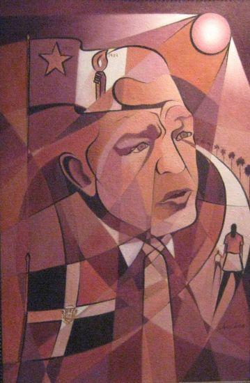 LA MUJER (inspirado en Juan Bosch) Retrato Óleo Tela