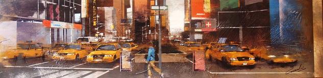 Times Square NYC Tabla Óleo Paisaje