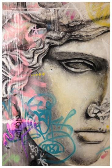 Escultura urbana Papel Pastel Figura
