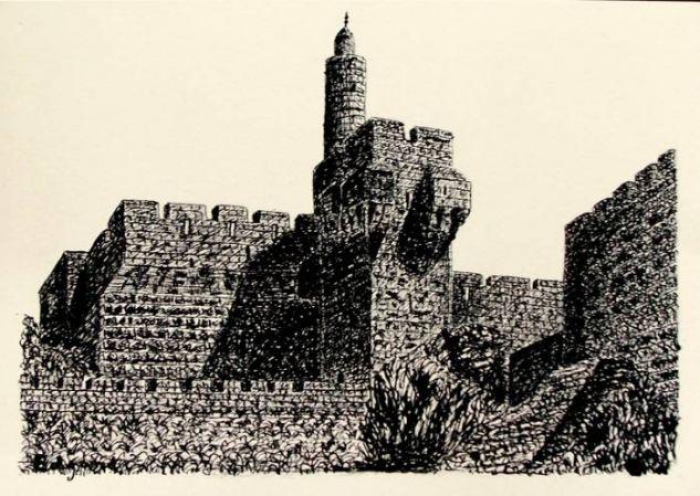 JERUSALEM 2 (David's Tower) Tinta