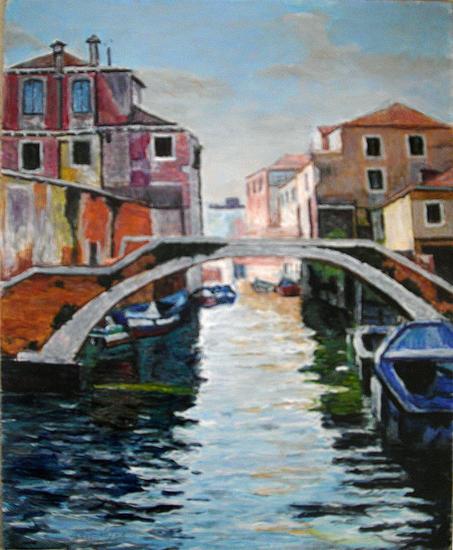 Venecia Paisaje Óleo Tabla