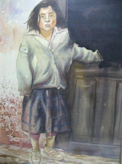 retrato Acuarela Cartulina Retrato