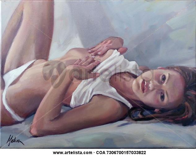 joven deseo Lienzo Desnudos Óleo