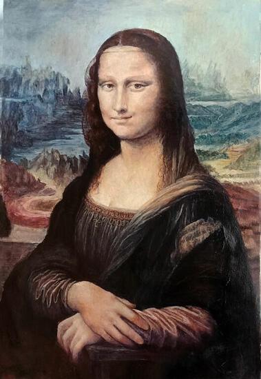 la MONA LISA ó MON SALAI Retrato Óleo Lienzo