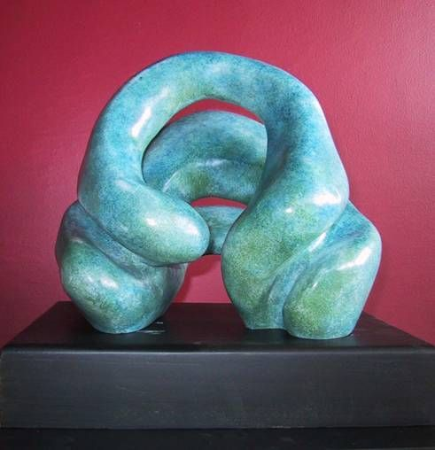 Trespiral Bronce Abstracta