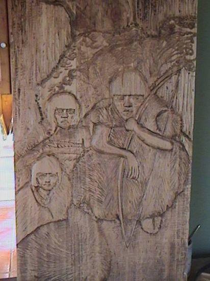familia ona Escultura Muebles y Objetos de Madera