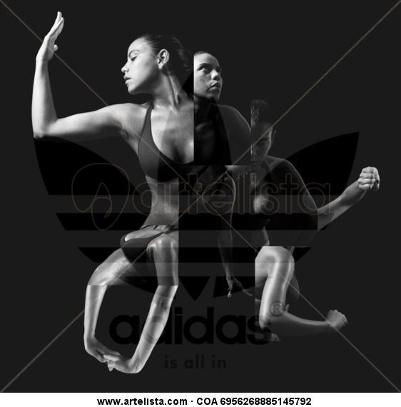 ADIDAS Blanco y Negro (Digital) Publicidad y moda