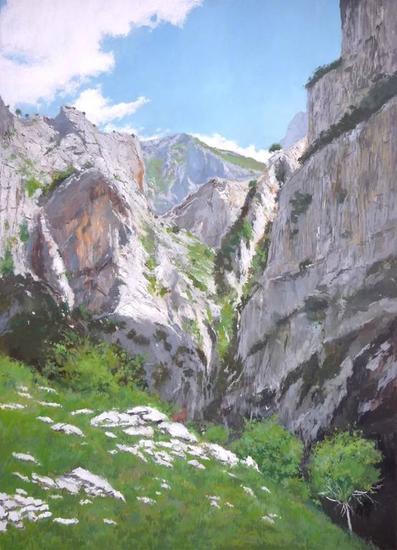Desfiladero en los Picos de Europa Lienzo Óleo Paisaje