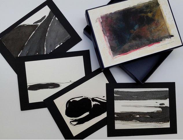Dibujo - caja con 12 dibujos para regalo Tinta