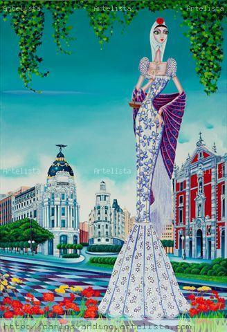 La violetera Óleo Lienzo Figura