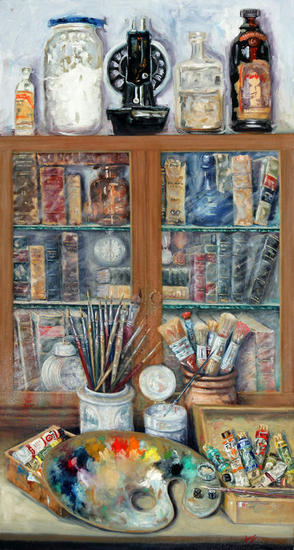 Rincon del estudio del pintor  Textile Oil Others