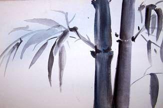 Bambu Acrílico Lienzo Floral