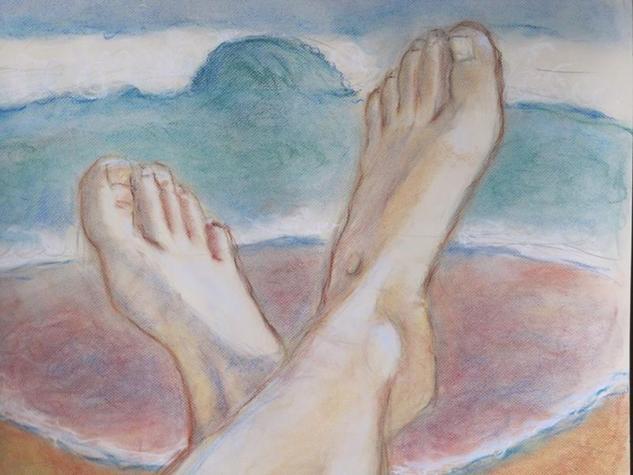 descanso en la playa Cartulina Pastel Figura