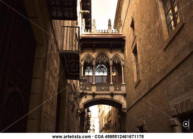 Puente en Barcelona Color (Digital) Architecture and Interiorism