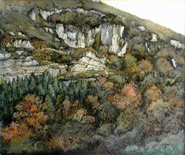 Bosque de hayas en otoño -Cantabria Lienzo Óleo Paisaje