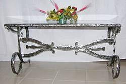 Mesa hierro forjado Forja Muebles y Objetos de Madera