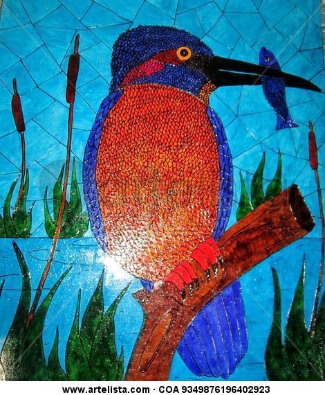 Martin el Pescador Otros De vidriera Animales