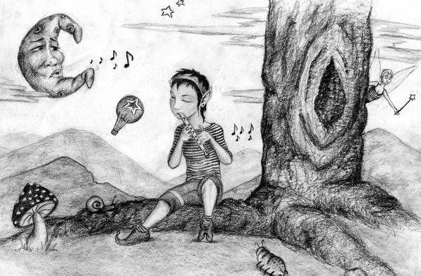 Elfo Flautista China Abalos Artelistacom