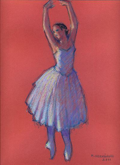 Bailarina Pastel Papel Figura