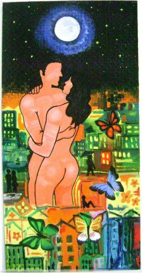 Paraiso de Amor Óleo Lienzo Desnudos