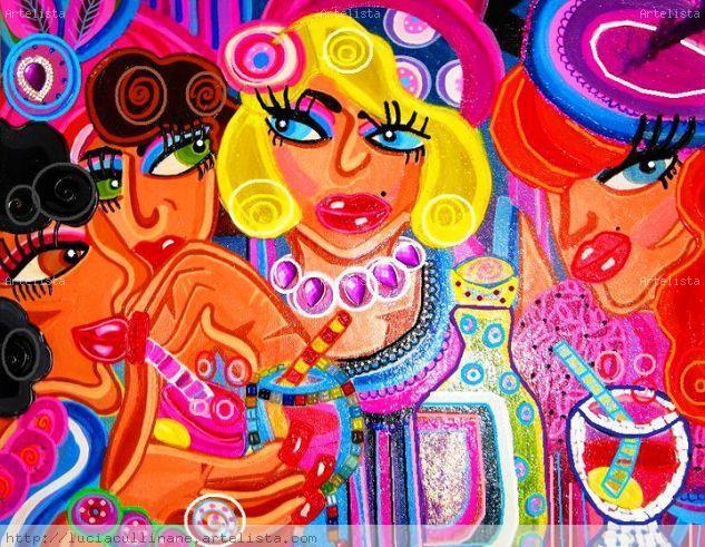 Ladies Acrílico Lienzo Figura