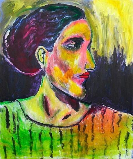 La dama Otros Óleo Retrato