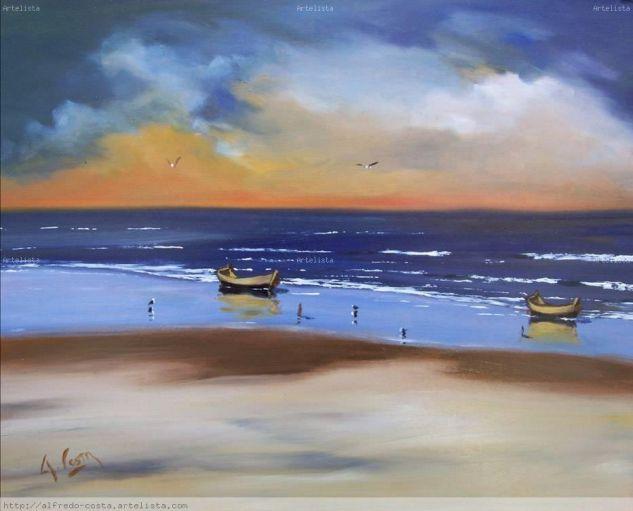playa al oleo