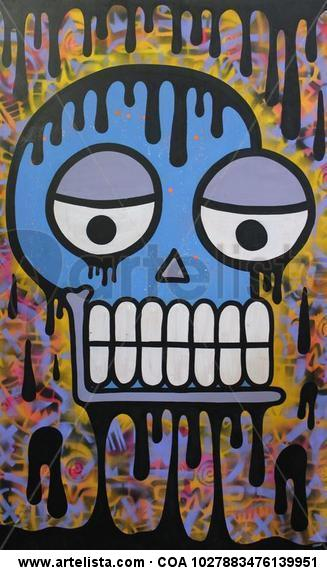 Big Skull Tabla Media Mixta Figura
