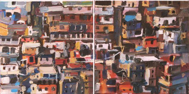 Favelas Lienzo Óleo Paisaje