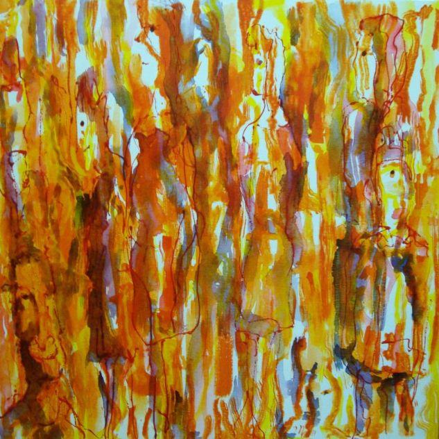 La cola del pan 2009 Otros Lienzo Acrílico