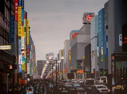 Ginza, Tokyo #5 Tabla Otros Paisaje