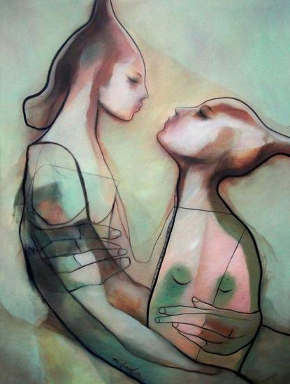 El Intercambio Lienzo Óleo Desnudos
