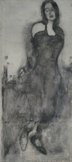 lissie ghost Pencil (Black) Canvas Portrait