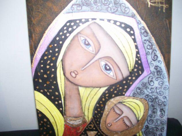 virgen en nicho Óleo Lienzo Figura