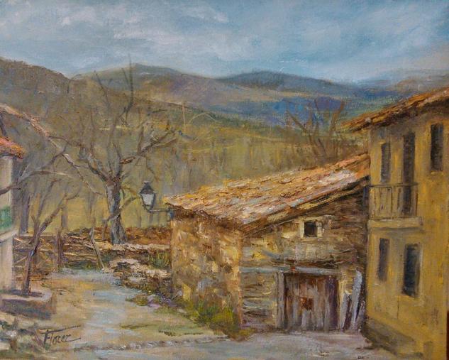 Invierno en la Sierra del Rincon Lienzo Óleo Paisaje