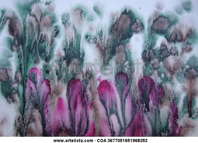 Jardín exótico Papel Tinta Floral