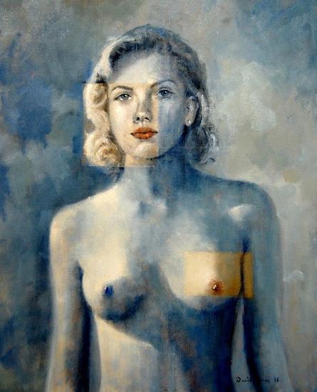 Modelo 002 2016 Canvas Oil Portrait