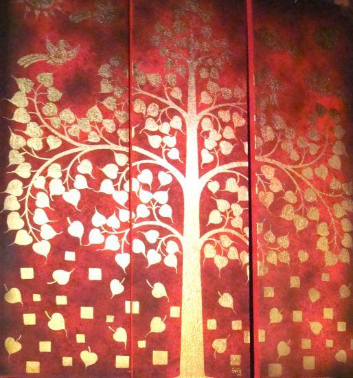 Buddha Tree Óleo Lienzo Otros