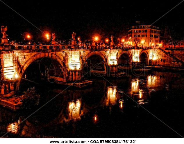 Rome at night Color (Digital) Viajes